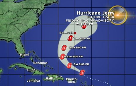 Tropical Storm Jerry Creates Downpour in Atlantic