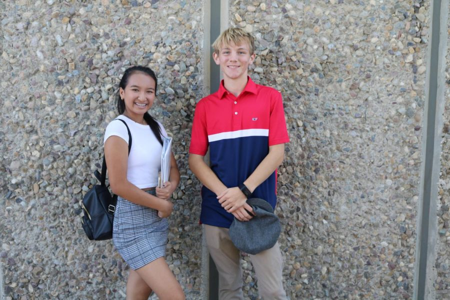 Seniors%2C+Melinda+Sun+and+Joshua+Maguire+dress+up+for+Preppy+Friday