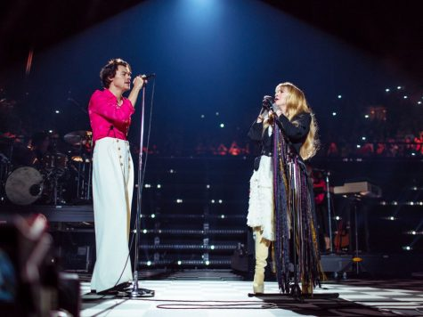 Stevie Nicks and Styles on Friday DEc. !3 at Styles album live debut at the Inglewood Forum singing Fleetwood Mac's Landslide