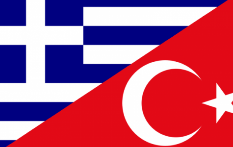 The flag of Greece and of Turkey.