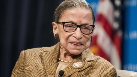 Supreme Court Justice Ruth Bader Ginsburg guest speaking at a lecture on February 10, 2020 at Georgetown University in Washington D.C. (Photo Credit: Sarah Silbiger/Getty Images) (Courtesy of CNBC)