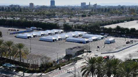 The Disneyland parking lot as become a vaccination super-site in Orange County (Courtesy of Healthline).