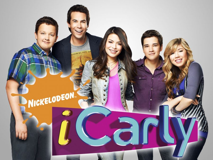One of the posters for the original iCarly series.