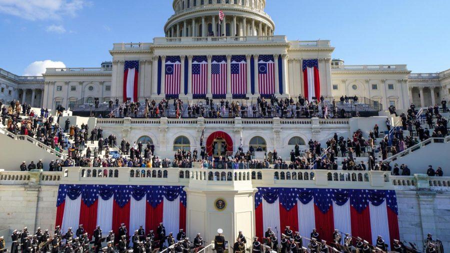 The Inauguration of Joe Biden and Kamala Harris outside the Capitol Building on January 20