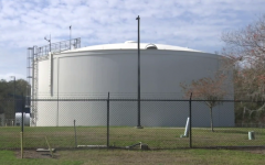The Oldsmar water plant where a hacker came close to poisoning the water supply of the small city of 15,000 people (Courtesy of CBS News).