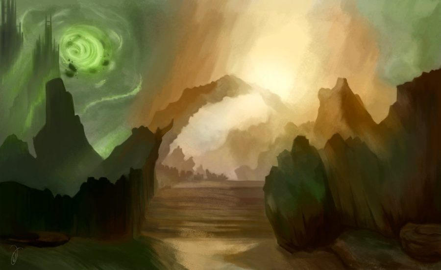 Artwork of a dream-realm.