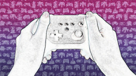 An image of a person holding a gaming controller.